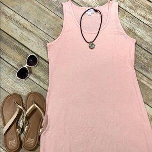 LuLaRoe Pale Pink Ribbed Dani Dress